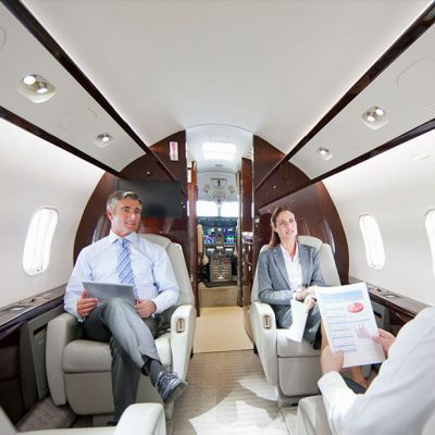business jet interior