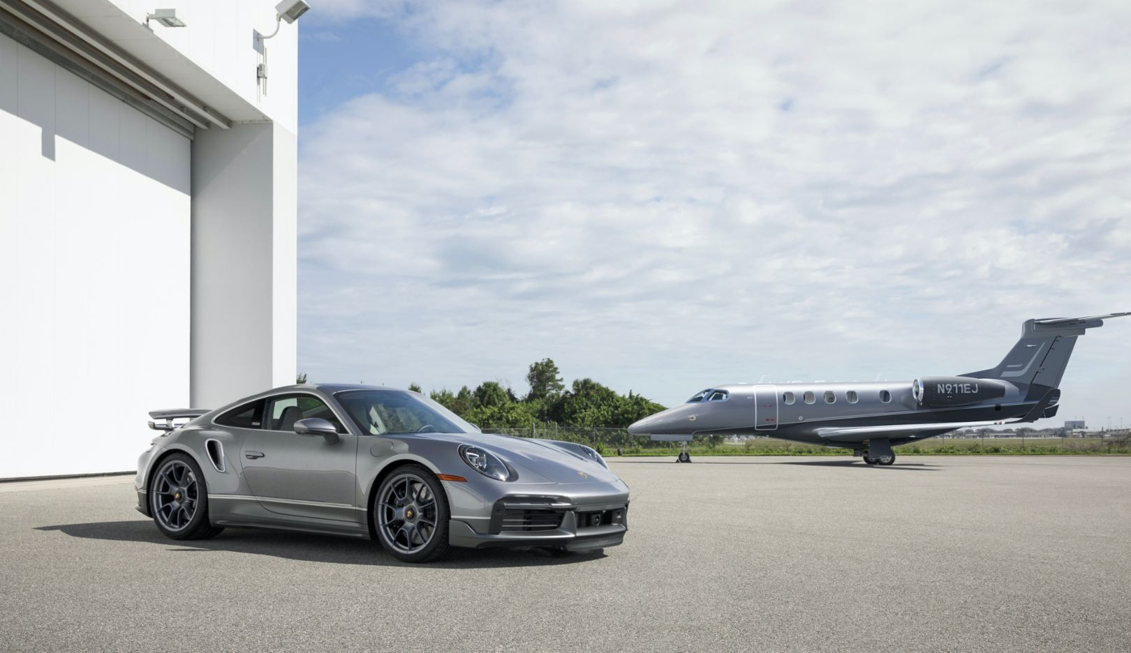 Porsche and Embraer Jet Angle 2