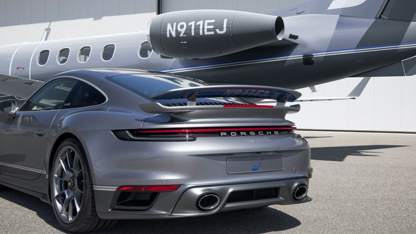 Porsche and Embraer Jet Angle 1